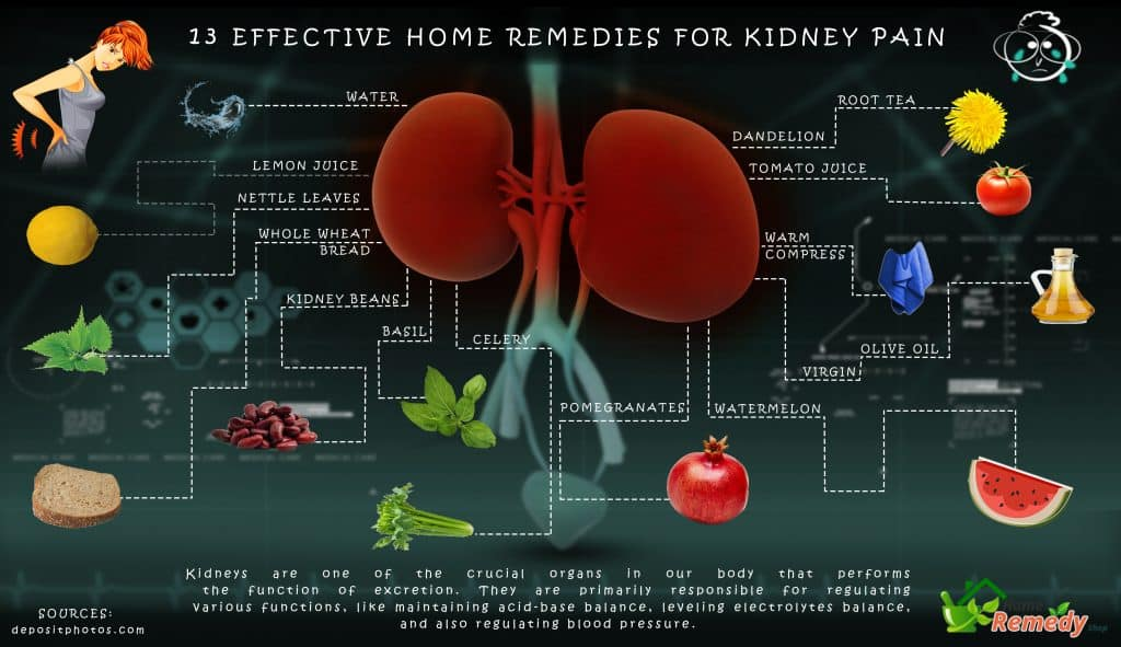 Where in the body do you feel kidney pain?
